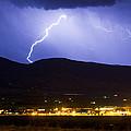 Lightning Striking Over Ibm Boulder Co 1 by James BO  Insogna