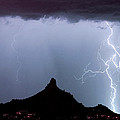 Lightning Thunderstorm At Pinnacle Peak by James BO  Insogna