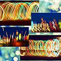 Lightshow Collage by Debbie Portwood