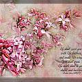 Lilacs With Verse by Debbie Portwood