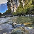 Limestone Cliffs And Fox River, Paparoa by Colin Monteath