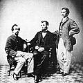 Lincoln & Secretaries, by Granger