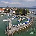 Lindau Harbor Lake Constance Bavaria Germany by Matthias Hauser