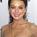 Lindsay Lohan Wearing Chanel Earrings by Everett