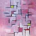 Line Series Pink by Patricia Cleasby