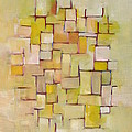 Line Series Yellow Basket Weave by Patricia Cleasby