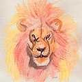 Lion Orange by First Star Art