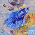 Little Blue Betta Fish by Brenda Thour