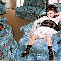 Little Girl In A Blue Armchair by Mary Cassatt