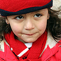 Little Girl In Red by Munir Alawi