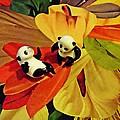 Little Glass Pandas 50 by Sarah Loft