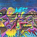 Live Graffiti Triptych by Anne Cameron Cutri