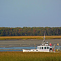 Lobster Boat Along Maine by Nancy Griswold