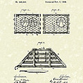 Lobster Trap 1888 Patent Art by Prior Art Design