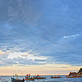 Local Fishing Boats Dock. by Krit Kaewhawong