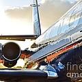 Lockheed Jet Star Side View by Lynda Dawson-Youngclaus