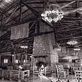 Lodge Starved Rock State Park Illinois Bw by Steve Gadomski