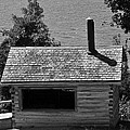 Log Cabin At Discovery Harbour by Elaine Mikkelstrup