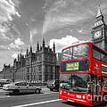 London Big Ben And Red Bus by Yhun Suarez