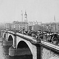 London Bridge Showing Carriages - Coaches And Pedestrian Traffic - C 1900 by International  Images