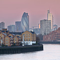 London City View Down Thames by SarahB Photography