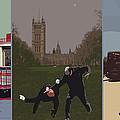 London Matrix Triptych by Jasna Buncic