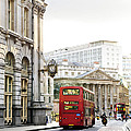London Street With View Of Royal Exchange Building by Elena Elisseeva
