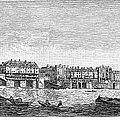 London: Waterfront, 1750. /nlondon Bridge And Dyers Wharf. Wood Engraving After A Painting By S. Scott, C1750 by Granger