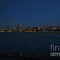 Long Beach Skyline At Night by Tommy Anderson
