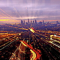 Long Exposure Of Cityscape by Albert Valles