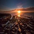 Long Exposure Sunset In La Jolla by Larry Marshall