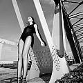 Long Legs On The Bridge  by Matusciac Alexandru