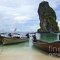 Long Tail Boats Thailand by Bob Christopher