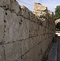 Long Wall Leading To Olympic Stadium In Olympia Greece by John Shiron