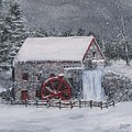 Longfellow's Grist Mill In Winter by Jack Skinner