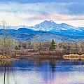 Longs Peak And Mt Meeker Sunrise At Golden Ponds by James BO Insogna