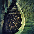 Looking Down An Old Staircase by Jill Battaglia