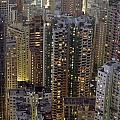 Looking Down On Crowded Residential by Axiom Photographic