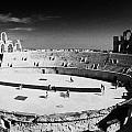Looking Down On Main Arena Of Old Roman Colloseum El Jem Tunisia by Joe Fox