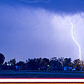 Looking East Lightning Strike by James BO  Insogna