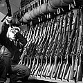 Looking Over Guns In Guard Room by Stocktrek Images