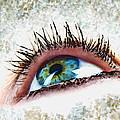 Looking Up Eye Art by Debbie Portwood