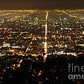 Los Angeles At Night 2 by Bob Christopher