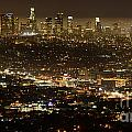 Los Angeles  City View At Night  by Bob Christopher