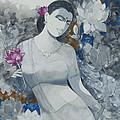Lotus Grays by Vinaya M Kumar