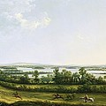 Lough Erne From Knock Ninney - With Bellisle In The Distance by Thomas Roberts