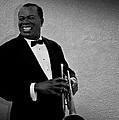 Louis Armstrong Bw by David Dehner