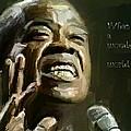 Louis Armstrong Wonderful World by Yury Malkov