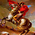 Louis Napoleon At The St Bernard Pass by Pg Reproductions
