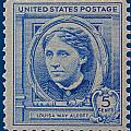 Louisa May Alcott Postage Stamp  by James Hill